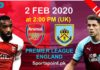arcenal vs burnley live today