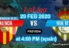 valencia vs real betis 29 feb 2020 live