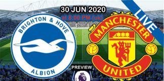 brighton vs man united live streaming