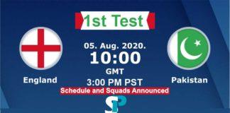 England vs Pakistan liive streaming 2020