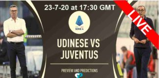 Udinese vs Juventus Live streaming 23-7-20