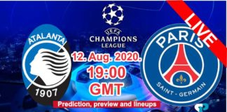 Atalanta vs Paris Live streaming chapions league