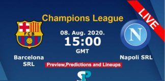 Barcelona vs Napoli live streaming champions league