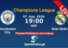 Manchester City vs Real Madrid live streaming champions league
