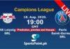 Rb Leipzig vs Paris Live streaming 2020 champions league