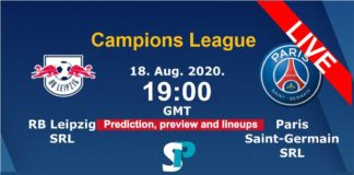 Rb Leipzig vs Paris Live streaming 2020 champions league