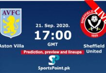 Aston villa vs Sheffield united live streaming 21-9-20