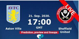 Aston villa vs Sheffield united live streaming 21-9-20