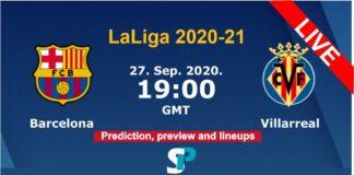 Barcelona vs Villarreal live streaming 27-9