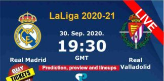 Real Madrid vs Valladolid live streaming 30-9-20
