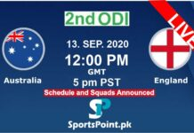 australia vs England 2nd odi 13-9-20