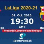 Celta Vigo vs Barcelona live streaming 1-10-20