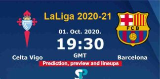 Celta Vigo vs Barcelona live streaming 1-10-20