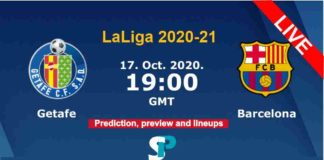 Getafe vs Barcelona live streaming 17-10-20