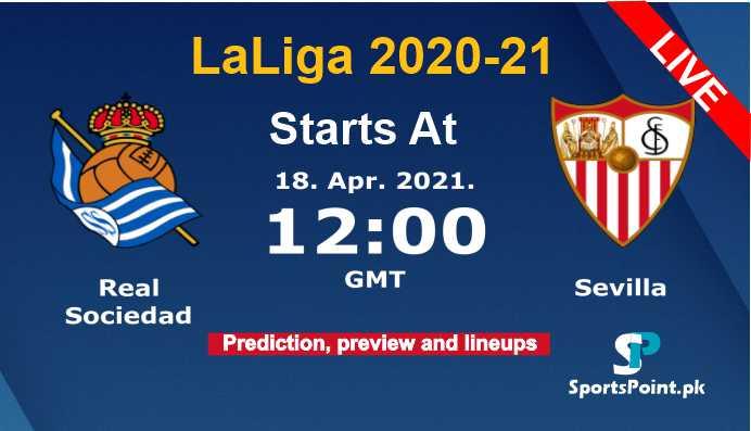 Real sociadad vs Sevilla live streaming 2021