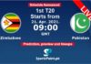 Zim vs Pak 2021 T20 Live streaming