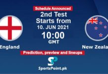 England vs New Zealand live test 2021